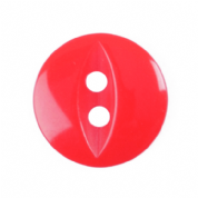 Fish Eye Button - Colour 108 Bright Red - Choose Size 11mm-19mm